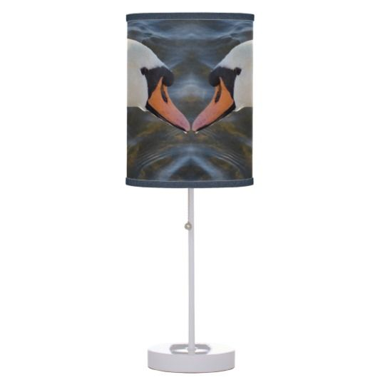 #zazzle #White #Swans #Table #Lamp #home #office #gift #giftidea