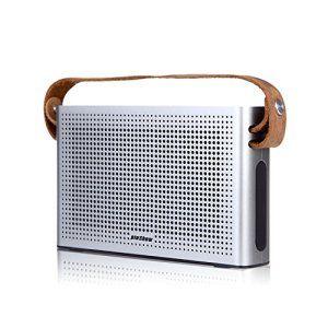 EasySMX PINSHOW Vintage Portable Haut Parleur Bluetooth 4.0 sans fil avec Sangle en Cuir Enceinte avec 2 x 5W Power Output 2 Pilotes et 1…
