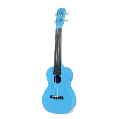 Korala ukulele van plastic. Cheap maar met een mooi geluid