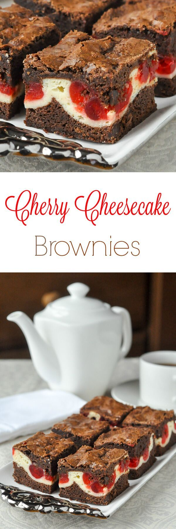 Cherry Cheesecake Brownies - an outstanding soft chewy brownie with a cheesecake centre that gets sweet glacé cherries baked into it. Another great freezer friendly cookie bar recipe.