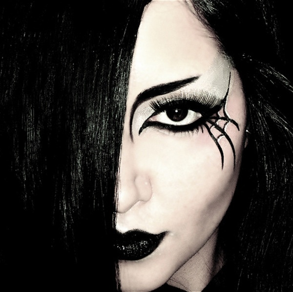 Awesome idea for halloween makeup. I wonder if I can recreate this?