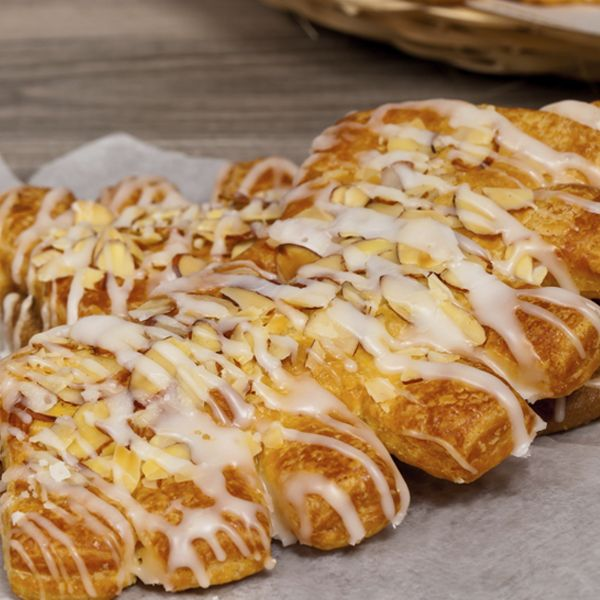 An Sweet recipe for almond bear claws, This yummy treat is great enjoyed with a hot coffee.. Almond Bear Claws Recipe from Grandmothers Kitchen.