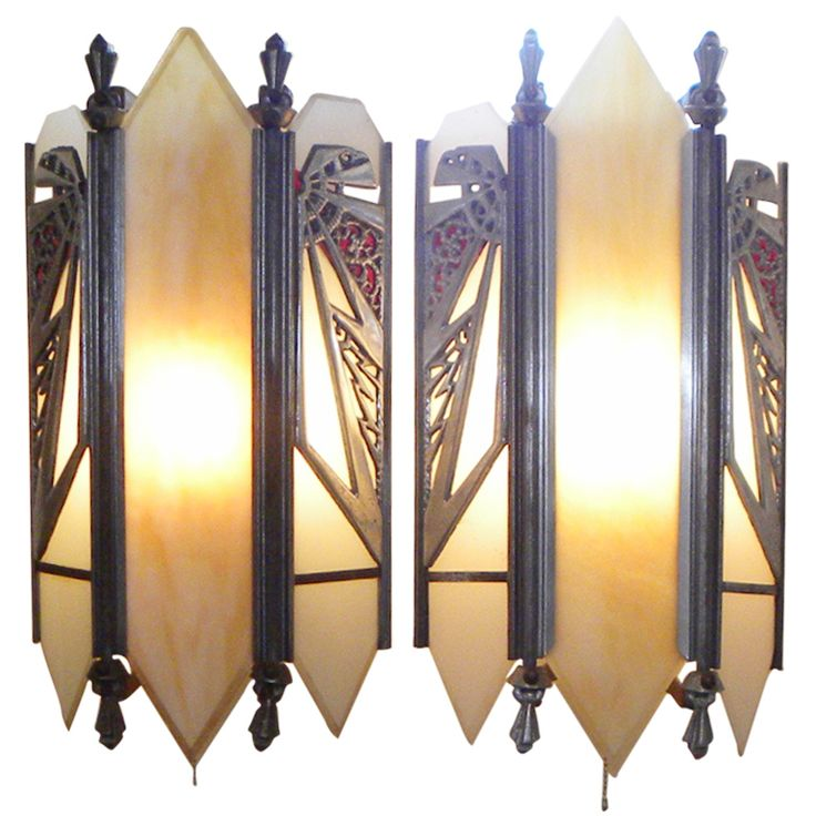 Antique Theater Wall Sconces : 410 best Art Deco images on Pinterest Dishes, Green and Ideas