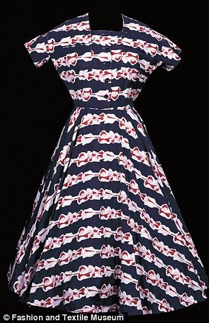 Printed cotton dress by Horrockses Fashions, made from a textile designed by Graham Suther...