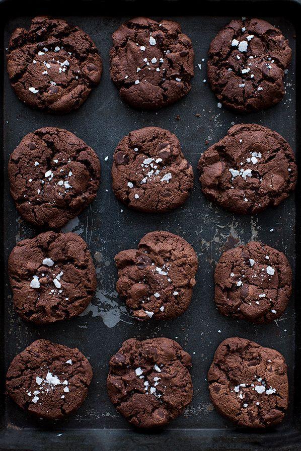 CHOCOLATE COOKIES With SEA SALT   @moodforfood   #moodforfood