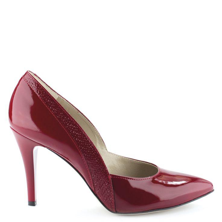 Anis alkalmi cipő - Piros színű magas sarkú lakk alkalmi cipő | ChiX.hu cipő webáruház - ChiX.hu Online Shoes - http://chix.hu