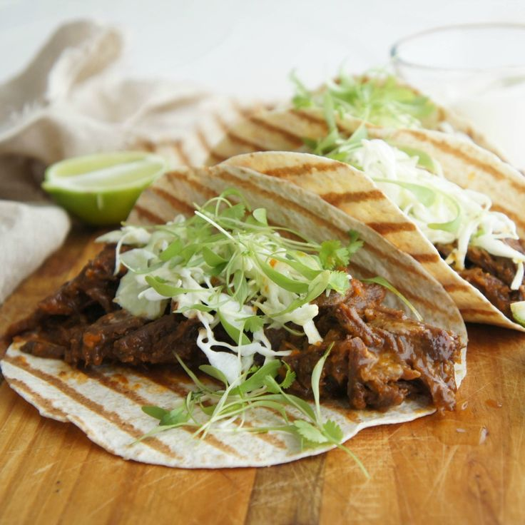 Tee's Shredded Beef Tacos are perfect for dinner tonight and lunch tomorrow.