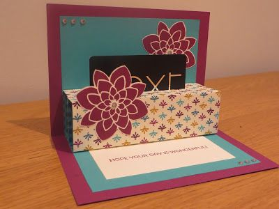 Pop-up gift card holder video tutorial using Bohemian DSP, Crazy About You and Cottage Greetings from Stampin' Up.