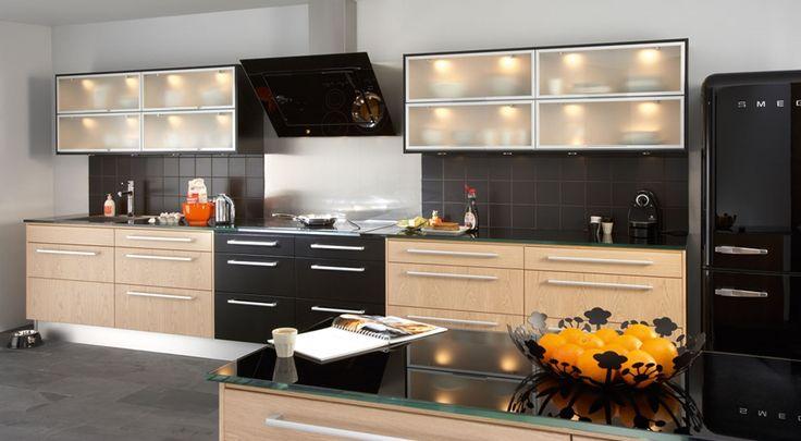 Köksinspiration -  solid svart ek vitpigmenterad