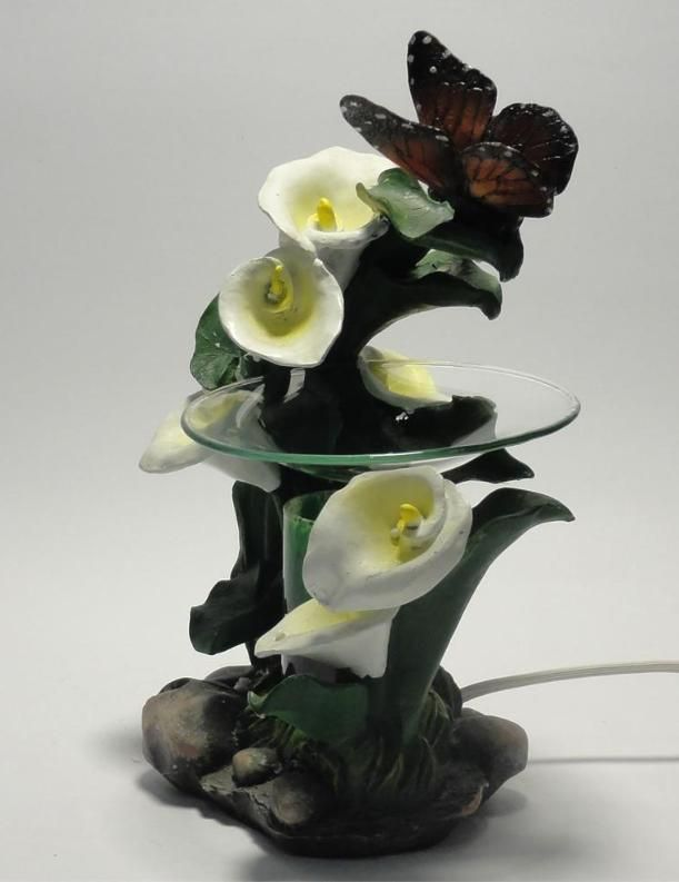 Butterfly's With Lily's Polyresin Electric Oil Warmer Dimmer Offered by @Juanita Martinez on Bonanza
