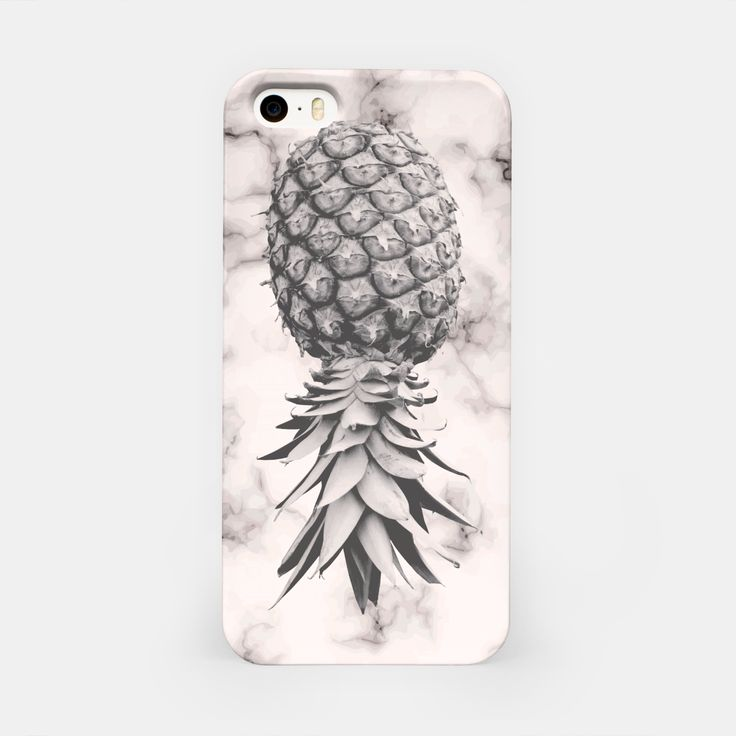 Marble Texture Seamless Pattern Pineapple 052 iPhone Case, Live Heroes