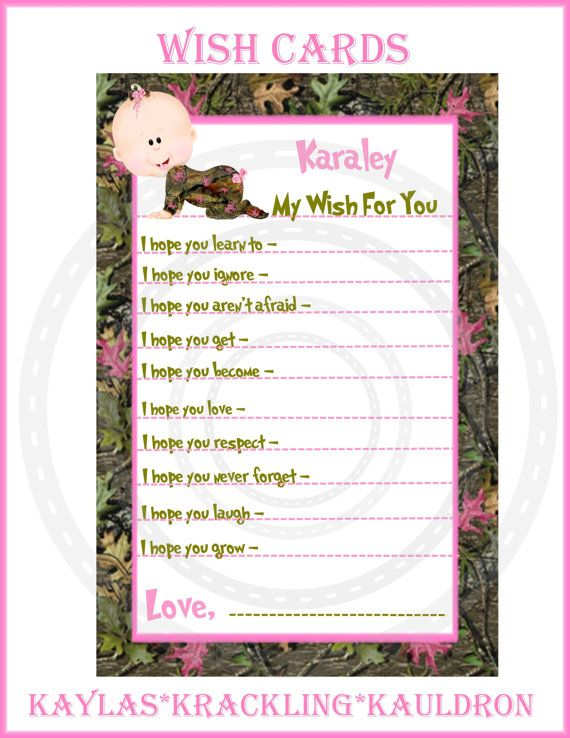24 Real Tree / Mossy Oak Baby wishes / advise