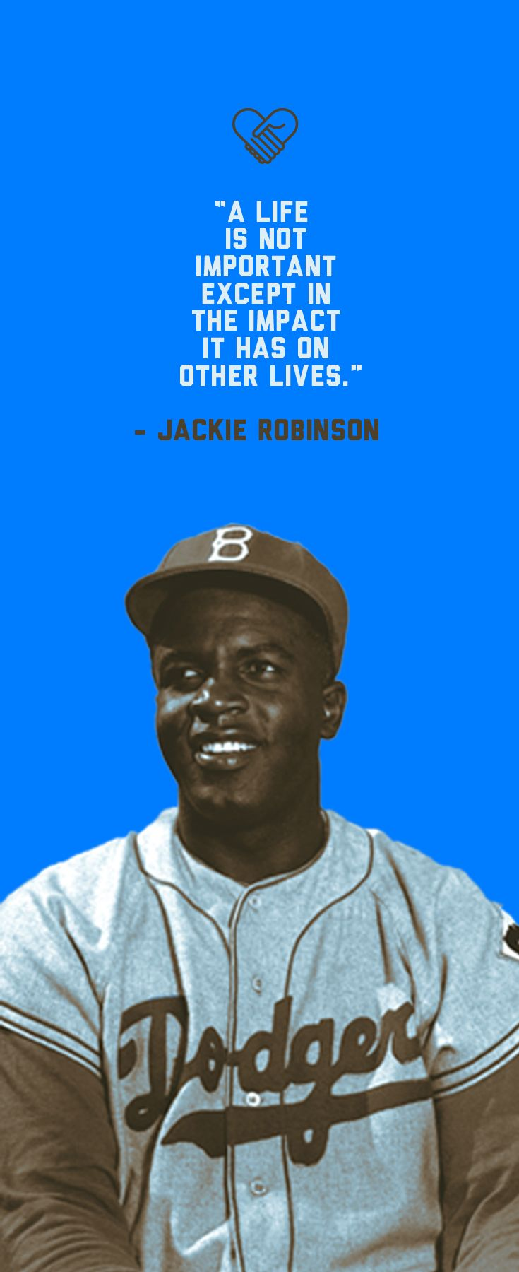 """""""A life is not important except in the impact it has on other lives."""" - Jackie Robinson - today in 1947 he became the first ever African-American in the MLB!"""