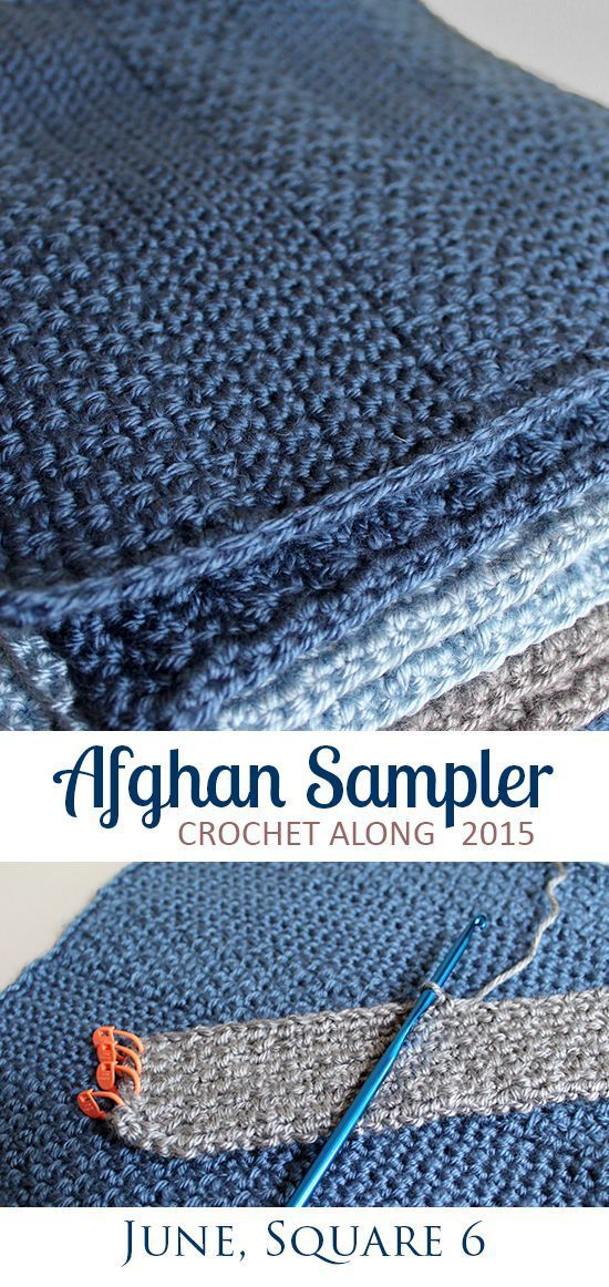 Broad-Stripe Moss Stitch, Square 6 of 10 for the Crochet Along Afghan Sampler on The Inspired Wren