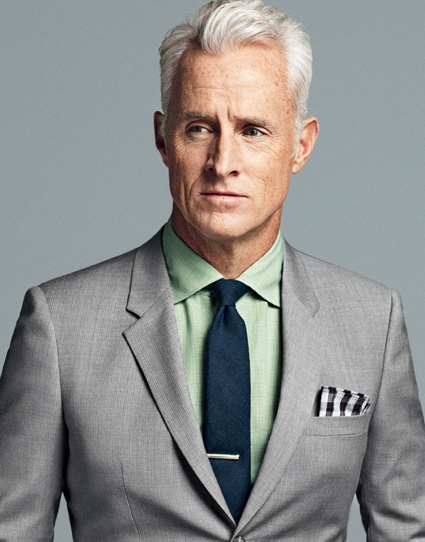 The ULTIMATE Silver FoxGrey Suits, Men Style, Madmen, Silver Foxes, John Slattery, Mad Men, Rogers Sterling, Pocket Squares, Mad Man