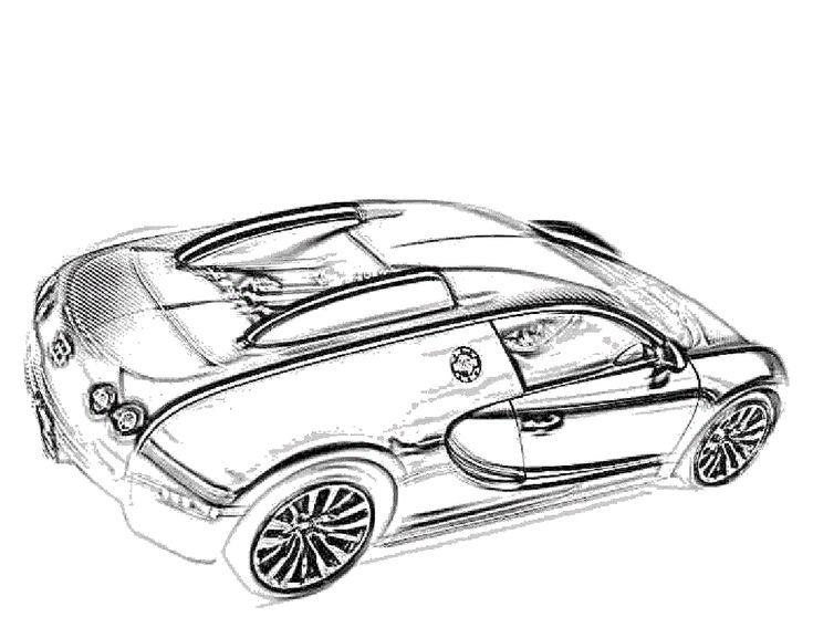 Bugatti Coloring Pages for Students 2019 | Bugatti veyron