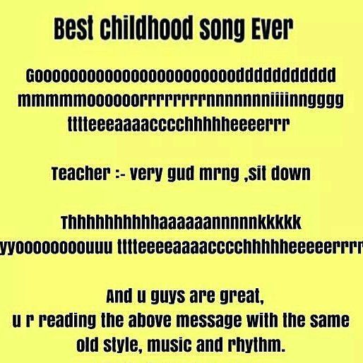 Best childhood song ever