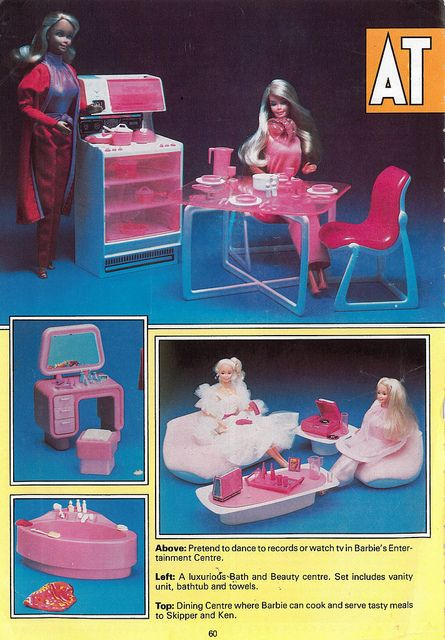 Barbie Dream House furniture - I remember the vanity set and the couches