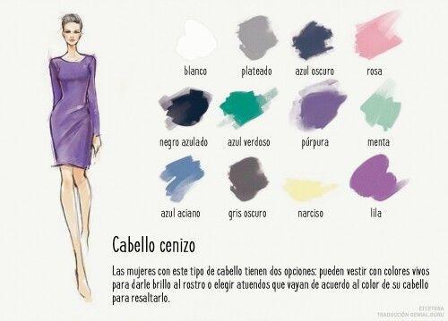 Si tú Cabello cenizo, usa estos colores