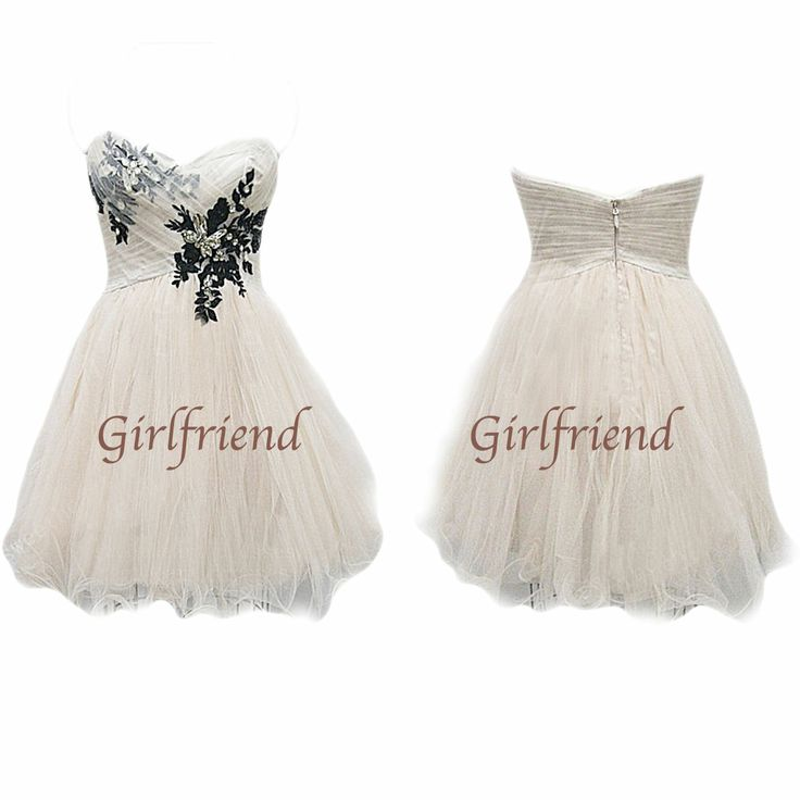 Dress code: S0028  Fabric:Chiffon, tulle Embellishment: Others Straps:Strapless Sleeves:Sleeveless Fashion: Tulle prom dress Color: White Size: 2,4,6,8,10,12, custom-made  Note: It may take 15-25days for tailor and processing. For custom-made size, please provide shoulder/bust/waist s...