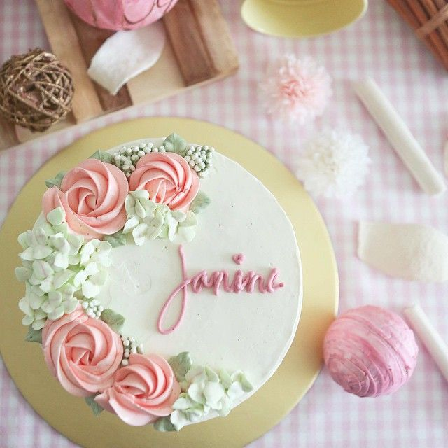 Cake Decorating Buttercream Birthday : Best 25+ Simple cake decorating ideas on Pinterest ...