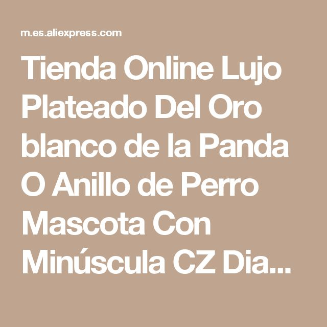 Tienda Online Lujo Plateado Del Oro blanco de la Panda O Anillo de Perro Mascota Con Minúscula CZ Diamond Cluster Tachonado Anillo de Dedo o Medio Muchacha de Las Mujeres Joyería | Aliexpress móvil