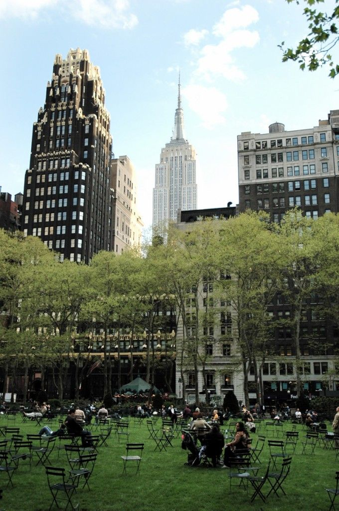 NYC. Manhattan. Bryant Square looking south. - ** Less than 2 months until I am here! **