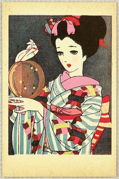 Junichi Nakahara 1913-1988 - Postcards of Japanese Maidens - Fireflies