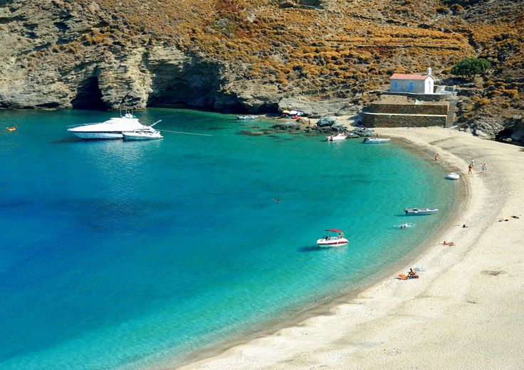 Achla #beach #Andros #Greece http://www.rooms-2-let.com/hotels.php?id=305