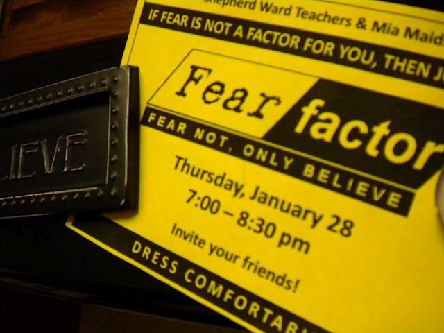Fear Factor YW/YM activity  Also a good website for YW ideas, fun camp game