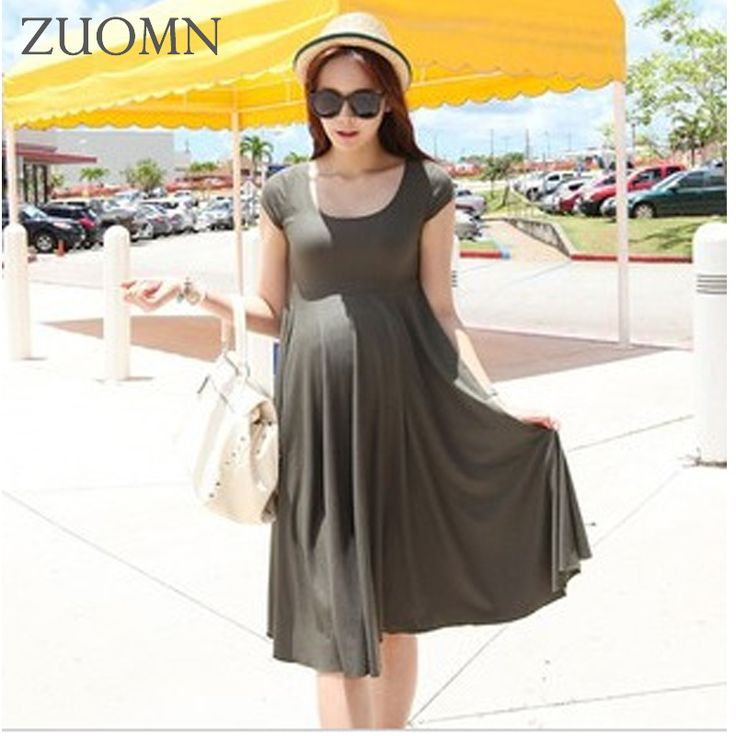 Summer pregnant women elastic dress pregnant models O neckelastic dresses expectant mother clothes maternity Longdress YL412 #Affiliate