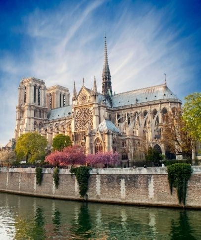 Notre dame de Paris was our next destination. To get there we had to walk back to our hotel pick up our car and drive. We arrived there around 2:45 and took some pictures. It was really pretty! The archetecture on the building was very old and beautiful.