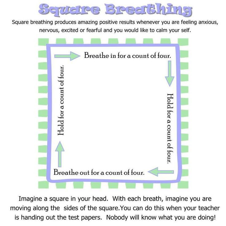 Anxiety coping mechanism: square breathing