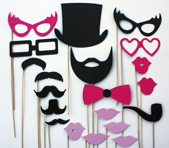 Photo Booth Props - 20 Piece - Ultimate Party
