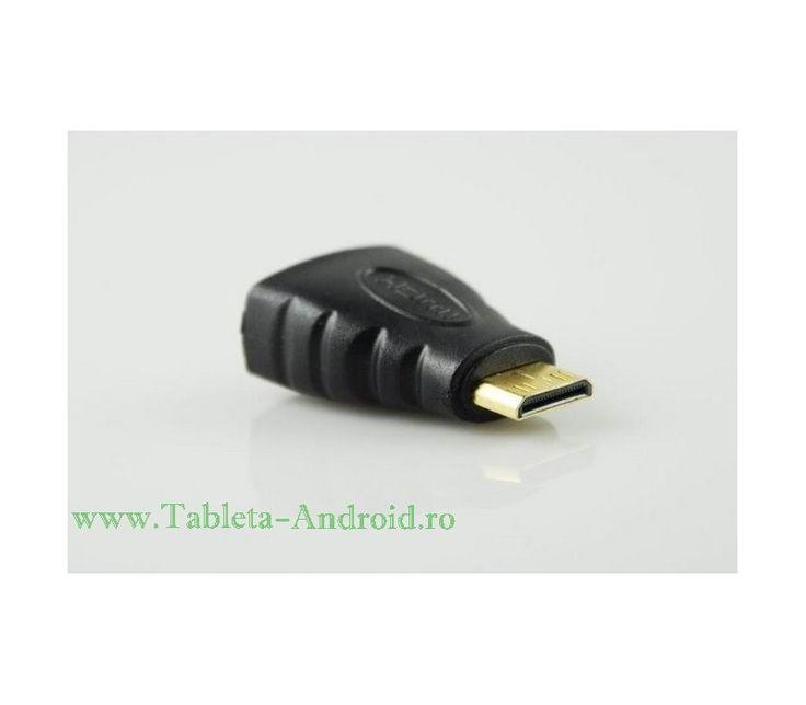 Adaptor Mini HDMI -https://www.tableta-android.ro/accesorii-tableta/p-adaptor-mini-hdmi-to-hdmi-mini-hdmi-tata-to-hdmi-mama-conectori-aurii.html #Accesorii #tablete #Adaptor #minihdmi