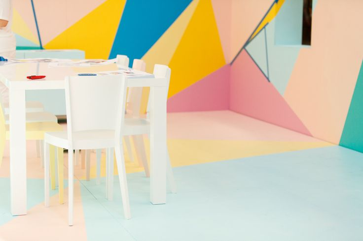 Day Two, The Colour Studio. Geometric shapes and pastel colours