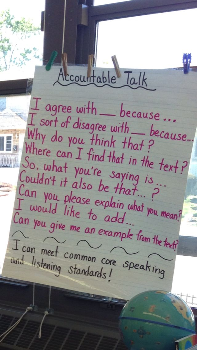 Accountable talk anchor chart…picture only