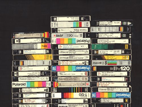 My Dad still has an epic collection of video cassettes in our house. This brings back good memories of watching recorded episodes of star trek and x-files with him.