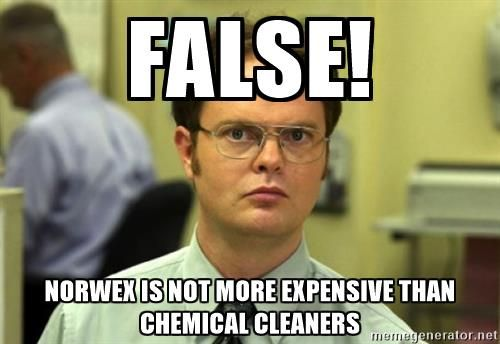False! Norwex is not more expensive than chemical cleaners ...