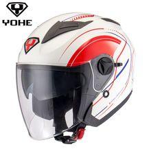 US $90.94 YOHE-YH-868 Motorcycle Helmets Ece Open Face Helmet Yohe Scooter Capacete Casco open face half face Helmet. Aliexpress product