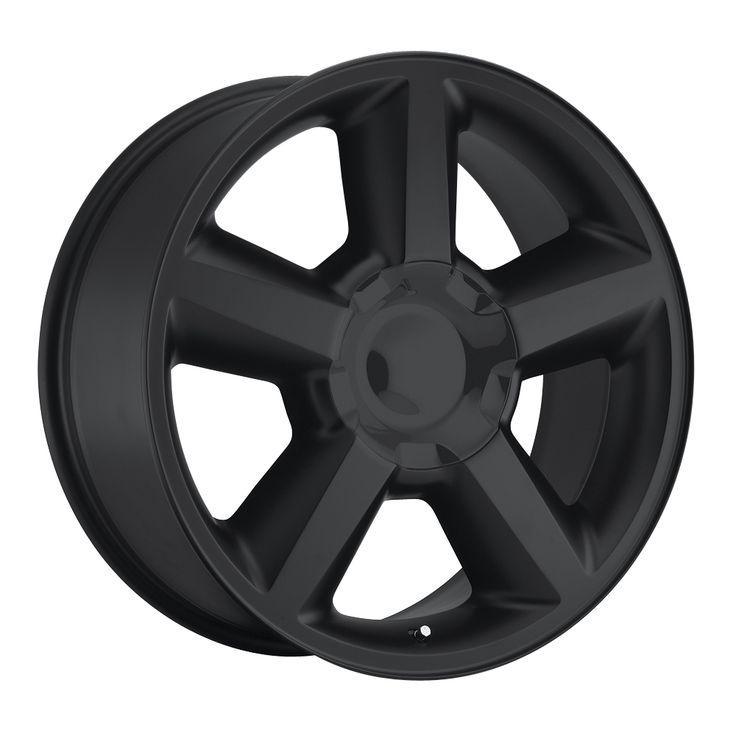 Chevrolet Suburban 2007-2012 22x10 6x5.5  31 - Replica Wheel -  Satin Black With Cap