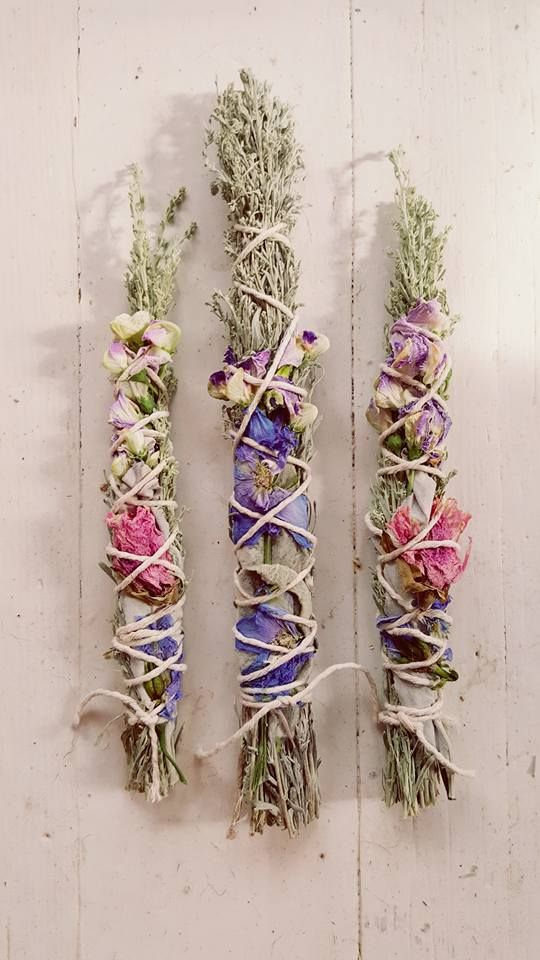 sage floral smudge sticks...fadedwest.com