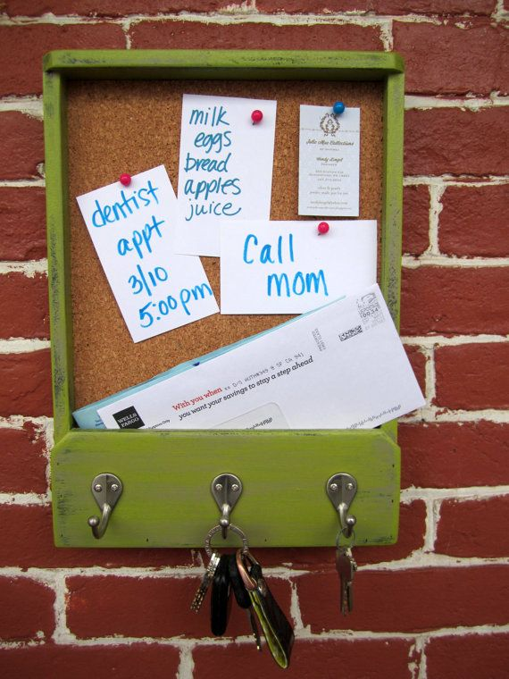 11 x 1525 x 2 Wooden Mail Holder Keyhook & by JolieMaeCollections, $30.00