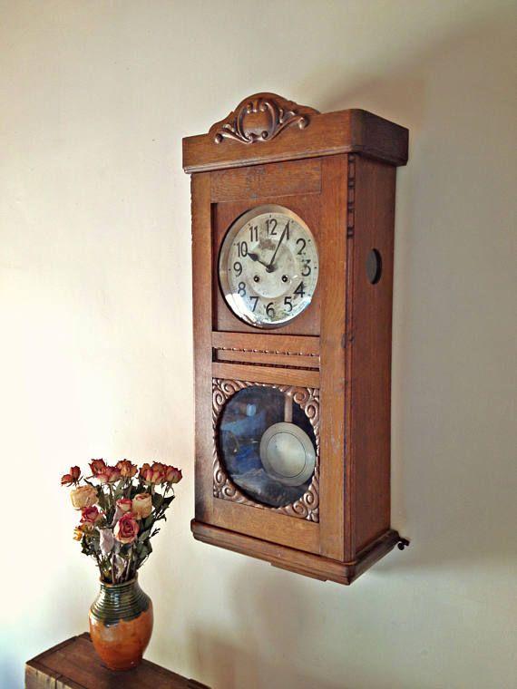 Junghans Pendulum Wall Clock Wooden Striking Wall Clock Working Pendulum Clock Vintage Pendulum Wall Clock Large Cl Wall Clock Wooden Clock Pendulum Wall Clock