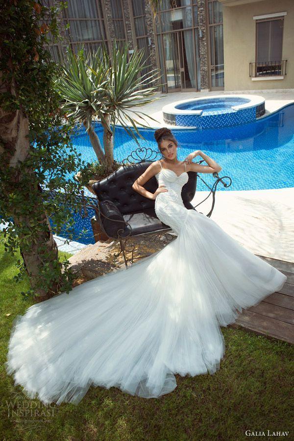 長いトレーンが美しさを引き立てる♡花嫁衣装に着たいマーメイドウェディングドレスまとめ一覧♡