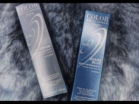 Blue- Titanium/ Silver Hair AMAZINGNESSSSSSSS.... WITH ION COLOR BRILLIANCE! - YouTube