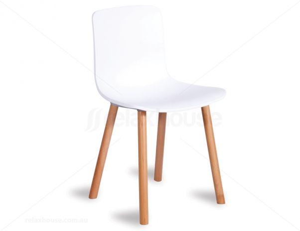 Jasper Morrison white replica Hal dining chair
