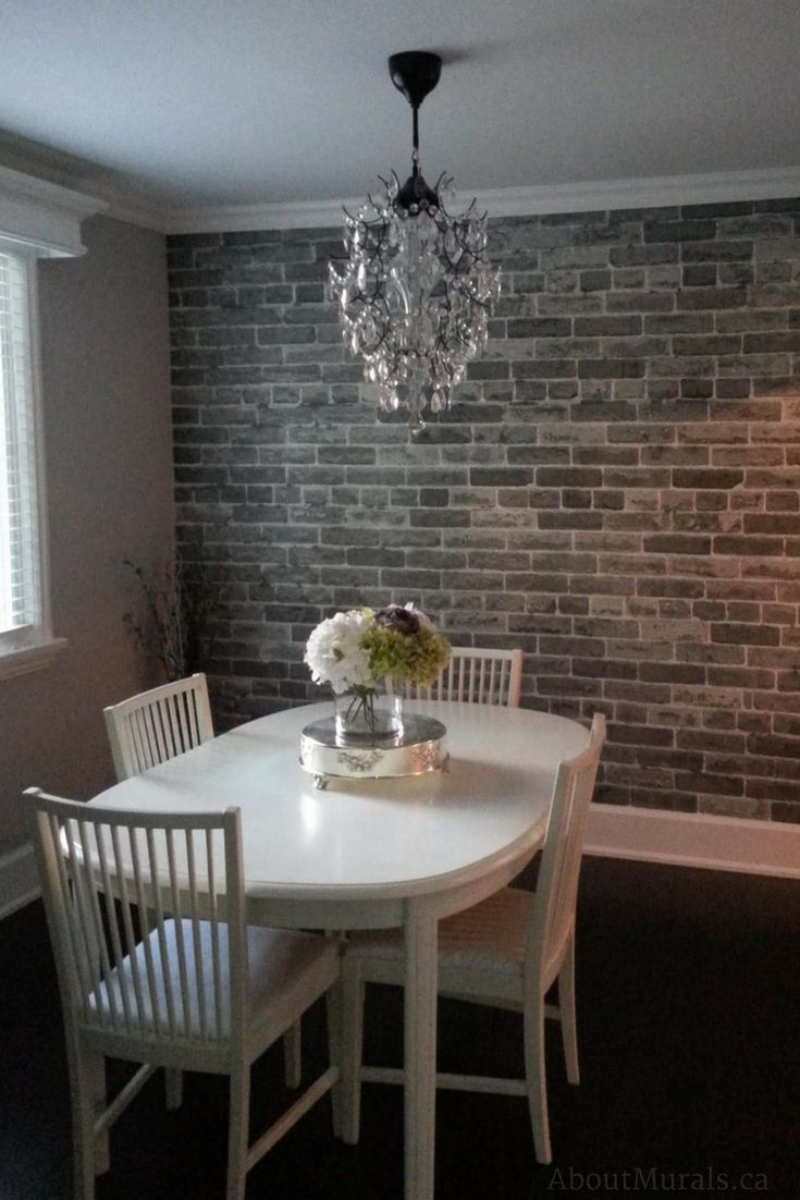 Grey Brick Wallpaper Brick wallpaper living room, Brick