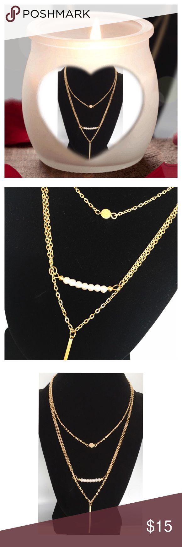 ⚪️ BOGO 1/2 OFF New Wila 3 Layer Chain Necklace Gorgeous 3-layer necklace...gold plated metal alloy...super versatile neutral necklace that you'll be sure to get a ton of wear out of! Wila Jewelry Necklaces