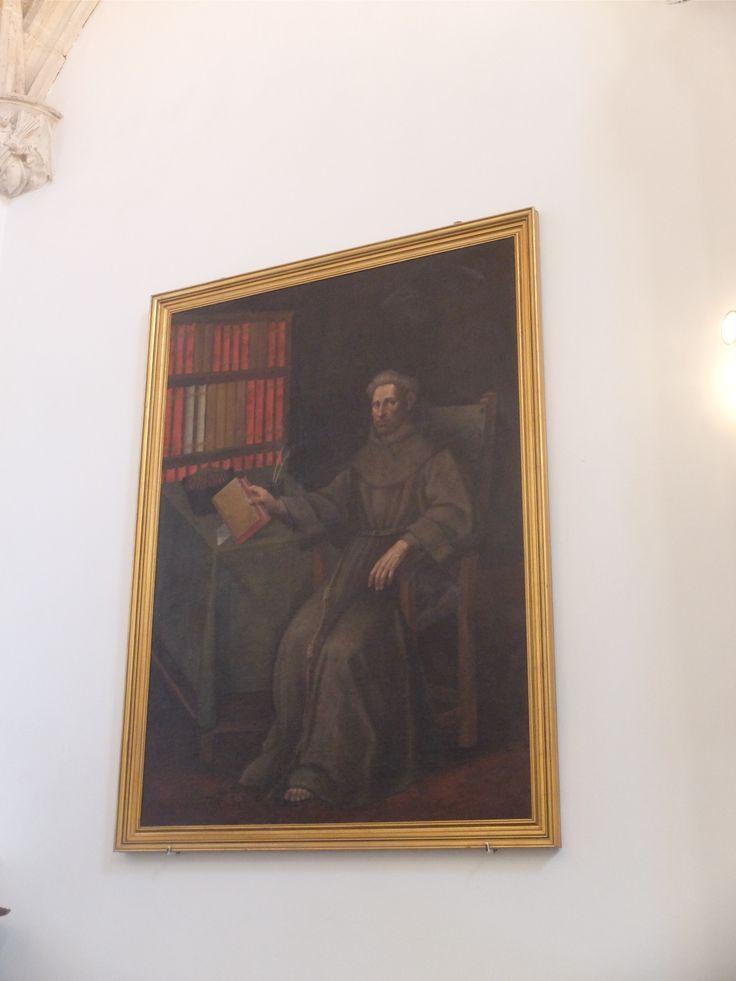 Capilla de la Inmaculada. Pintura en la que aparece Alejandro de Hales, profesor de la Sorbona, una de los maestros franciscanos defensores del dogma de la Inmaculada. Cedido desde Pastrana, perteneció a Santa Maria de Jesus , de Alcalá de Henares. Autor desconocido.